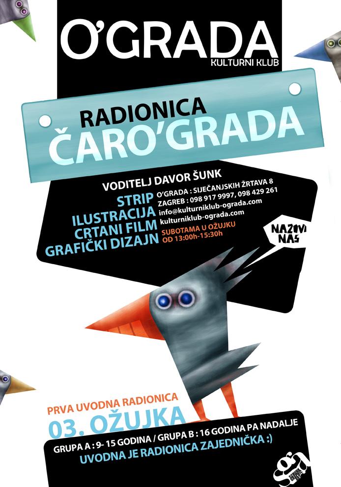 ČARO'GRADA radionica vizualnih komunikacija za male i velike  Kulturni Klub ...
