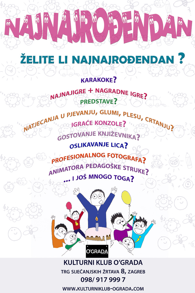 tekst pozivnice za rođendan za odrasle NAJNAJROĐENDAN | Kulturni Klub Ograda tekst pozivnice za rođendan za odrasle